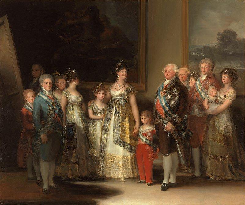 ¿Conoces a los personajes de La familia de Carlos IV de Goya?